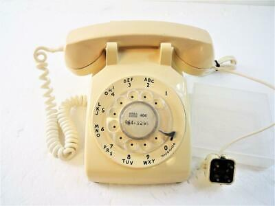 Vintage Western Electric Rotary Dial Desktop Telephone Color: Beige/Cream Tested