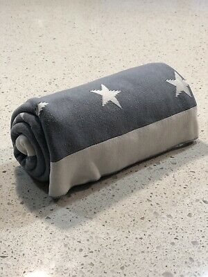 Weegoamigo Cotton Pram Blanket Grey & White Stars