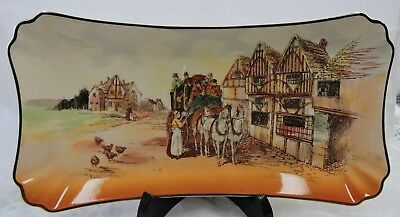 Rare Vintage Royal Doulton Old English Coaching Scenes Sandwich Tray - D6393