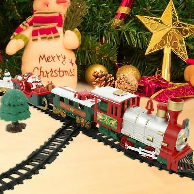 27Pcs Christmas Musical Train & Novelty Track Set Kids Xmas Gift Toy Tree Train