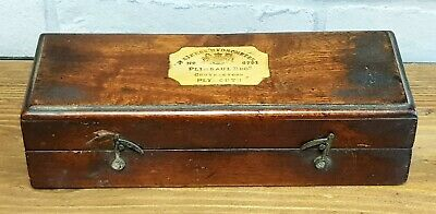 Rare  Plimsaul Hatton Gardens London Sikes Hydrometer Original Box  Thermometer