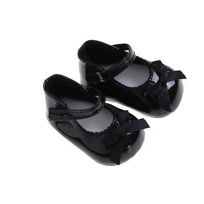 High Quality Black Shoes Boots For 18inch  Doll Party Gift IO