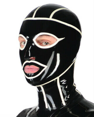 Rubber Latex Spiderman-Maske Gummi Ganzanzug Anzug Mask Hood Cosplay 0.4mm S-XXL