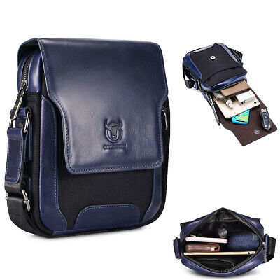 Genuine Leather Sling Bag for Men Fashion Spacious Shoulder Bag Crossbody Casual