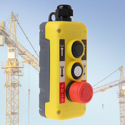 Push Button Switch Emergency Stop for Crane Hoist Pendant Control Station n