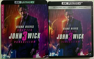 John Wick Chapter 3 Parabellum 4K Ultra HD Blu Ray 2 Disco Set + Fodera