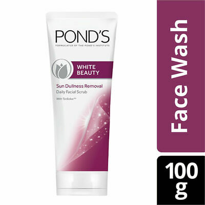 Ponds White Beauty Sun Dullness Removal Daily Facial Scrub 100g removes dirt