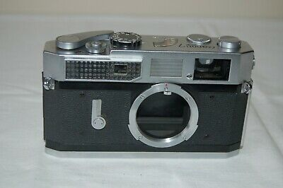 Canon-7 Vintage 1965 Japanese Rangefinder Camera. Serviced. No.852262. UK Sale