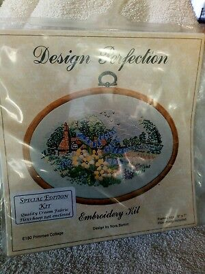 Design Perfection Embroidery Kit Primrose Cottage Special Edition Kit