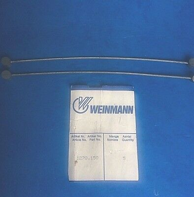 NEW OLD STOCK PAIR 1980s CENTRE PULL BRAKE STRADDLE CABLES,150MM LONG-WEINMANN
