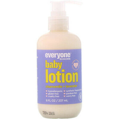 Baby Lotion, Chamomile + Lavender, 8 fl oz (237 ml) - Everyone