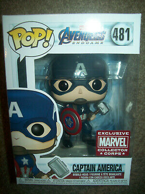 Captain America #481 Avengers End Game Marvel Collector Corps Pop! Vinyl