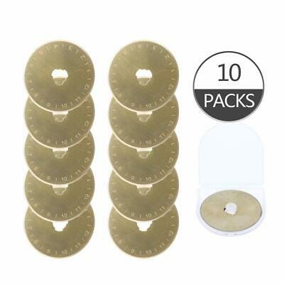 10 pack replacement rotary cutter blades titanium coated 45mm
