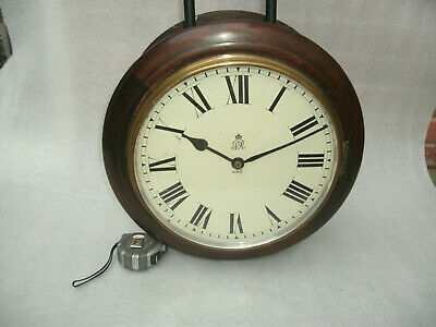 Large Vintage Double Sided George VI Fusee GPO Clock