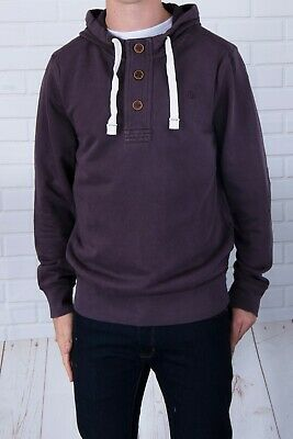 New Fat Face Mens Olive Khaki Half Button Vintage Washed Hoody XS-XXL RRP£49.95