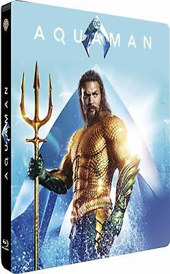 Aquaman Steelbook 4K Ultra Hd Et 3D + Blu Ray  Neuf Sous Cellophane