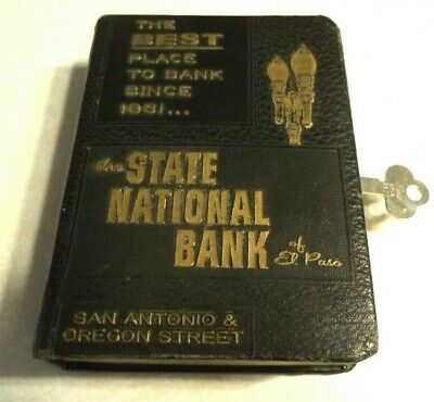 BANKERS UTILITIES BOOK BANK THE STATE NATIONAL BANK of EL PASO 1 KEY VINTAGE