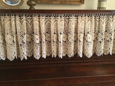 Vintage Lace Valance Cream 128 x 17 Inches Floral Pattern