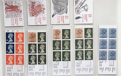 GB Stamps - Selection Of £1 folded booklets