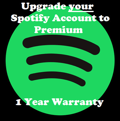 Spotify Premium Account | 1 Year Warranty | Upgrade or New Personal Account