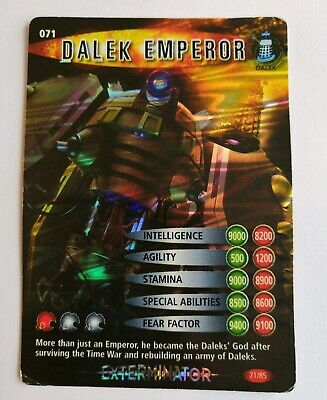 Doctor Who Battles In Time Special  Trading Card Exterminator (Dalek Emperor)