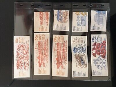 GB Stamps - 9x 50p folded booklets