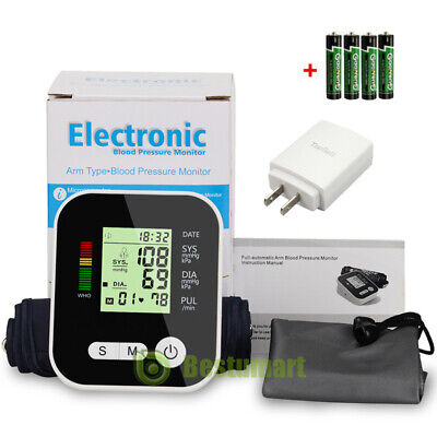 Automatic Upper Arm Blood Pressure Monitor Digital Cuff Push Button DV5V USB