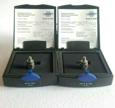 Bruel & Kjear Delta Tron Type 4514, Set of two - CCLD,ICP Accelerometers, Rare !