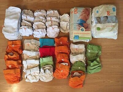 GDiapers Lot Newborn Small Medium Covers Pouches Cloth Disposable Inserts