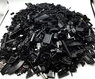 Lego Huge 7 Pound 3 Ounce Lot Of Black Pieces Parts & Bricks Assorted By Color