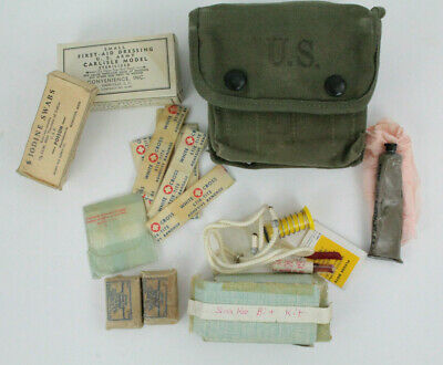 Wwii Army Usmc M2 Jungle First Aid Kit & Contents Dated 1945