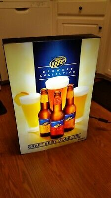 Miller Lite Brewers Collection Craft Beer Sign Light Up Bar RARE