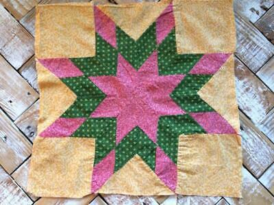 """~Back In Time Textiles~Antique 1860-80 pieced """"8 point star"""" Quilt block"""