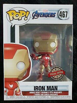 Funko Pop Vinyl Marvel Avengers Endgame Iron Man Exclusive Rare IN STOCK NOW UK