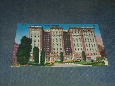 Postcard-Th St. Francis Hotel, San Francisco, Cal-Linen Era-Unposted