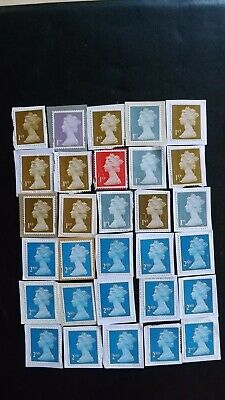 30 Unfranked 1st and 2nd class Machin security definitives.15 of each value.