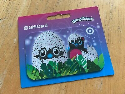 Target gift card Hatchimals theme no value zero balance NEW collectable giftcard
