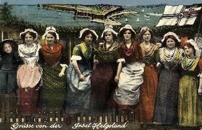 Germany Helgoland Greetings Postcard No.3403 Depicting Traditional Island Costum