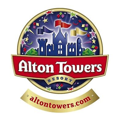x2 Alton Towers E-tickets for Sunday Sept 22nd 2019