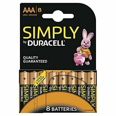 Anand-AAA Duracell SIMPLY Batteries PK8 NEW