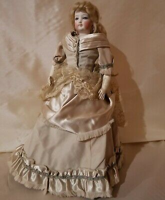 "16"" Real Antique 1800's Era French Fashion Lady Doll Marked 2 On Head"