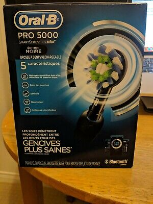 Oral-B Pro 5000 SmartSeries Power Rechargeable Electric Toothbrush BLACK EDITION