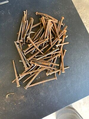 One Pound Of Miscellaneous Antique Square Head Nails