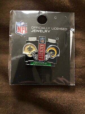 New Sealed Los Angeles Rams vs New Orleans Saints NFL Gameday Pin 9/15/19