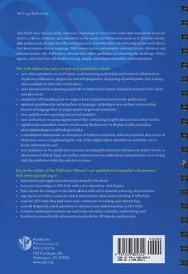Publication Manual of the American Psychological Association Sixth Ed. Spiral Bd
