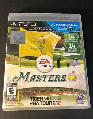 Tiger Woods PGA Tour 12 Masters PlayStation 3 PS3 VERY Fast Shipping World!!!