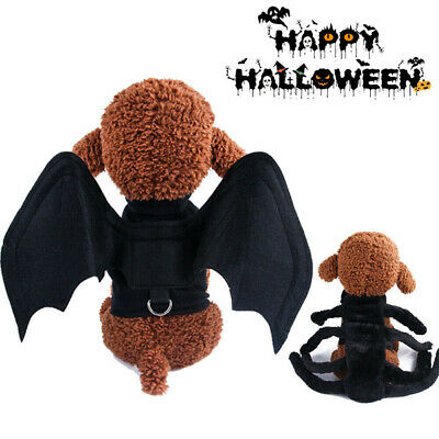 Halloween Pet Costumes Spider Bat Wings Pet Apparel for Dog Cats Fancy Dress