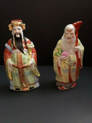 """Vintage Chinese Porcelain Figurine of Scholar 9"""" Tall hand Painted"""