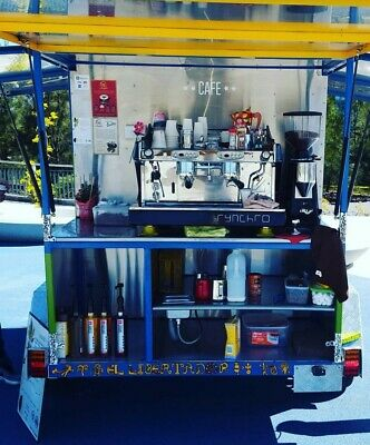 Coffee trailer, fully equipped, heavy duty compact, spacious and comfortable
