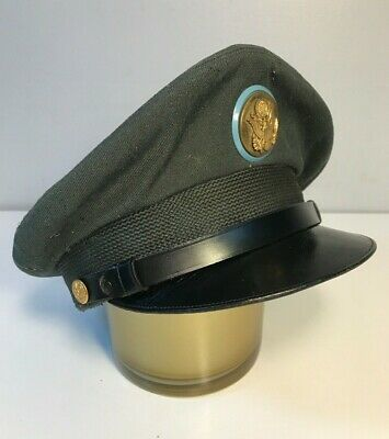 Size 7 WWII United States Military Issued Green Army Dress Uniform Wool Hat Cap